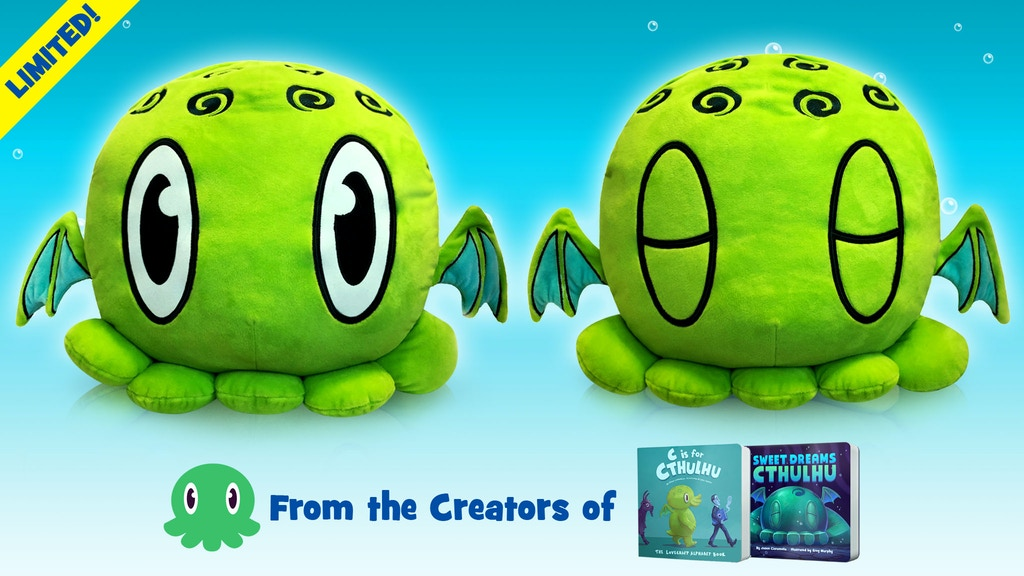 C is for Cthulhu Blanket-Stuffed Pillow & Books [Limited!] project video thumbnail