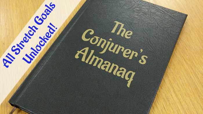 The Conjurer's Almanaq is the ultimate guide to the conjuring arts. Or is it? Start reading and you'll be trapped inside!