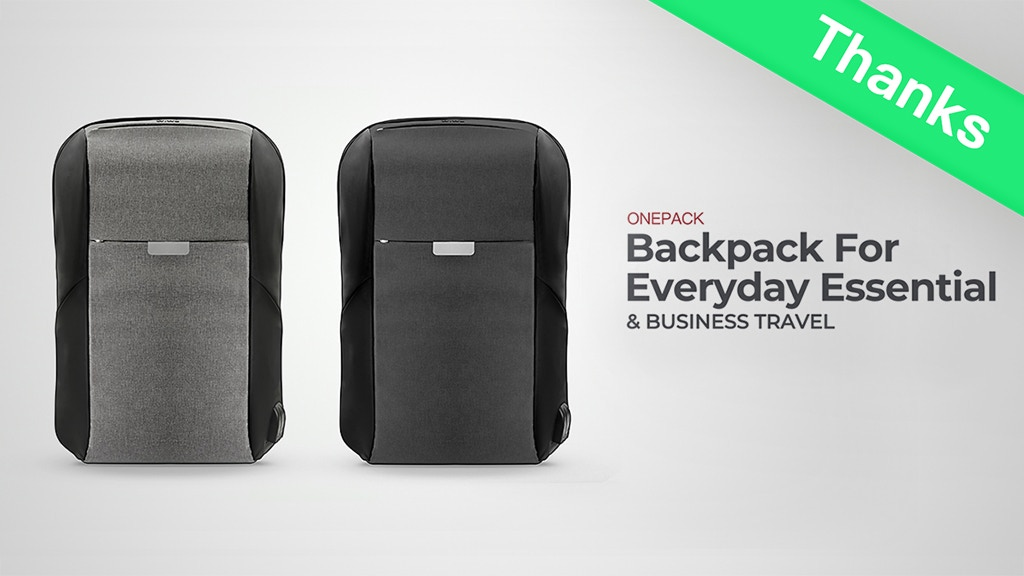 OnePack, Most Functional Backpack for Everyday Life & Travel project video thumbnail