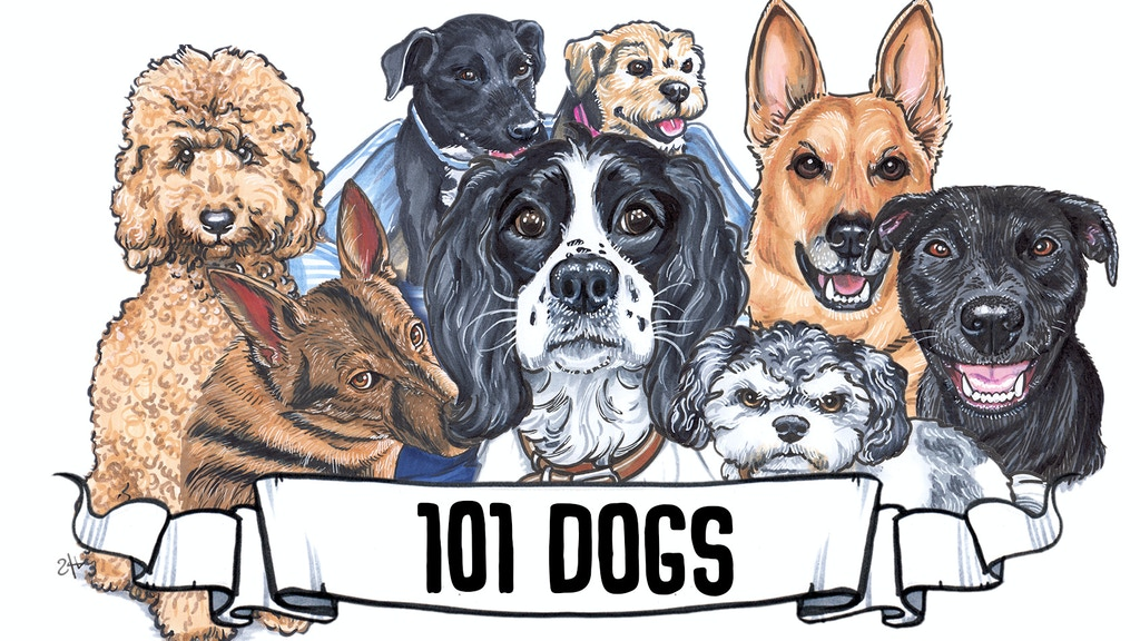 Project image for 101 Dogs - Handdrawn Illustrations of Your Dogs!