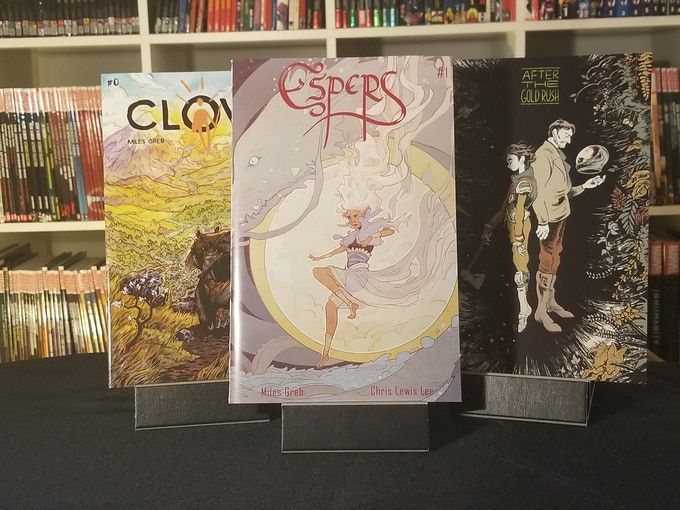 Clovis, Espers, and the variant cover of ATGR #2.