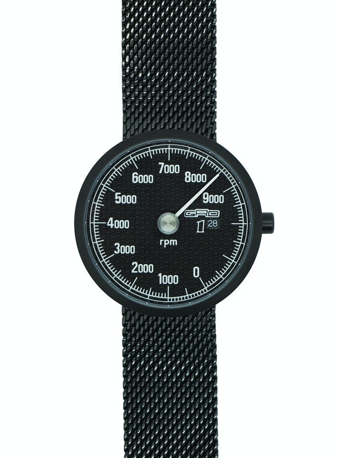 316L Stainless Steel Mesh Strap PVD coated Black