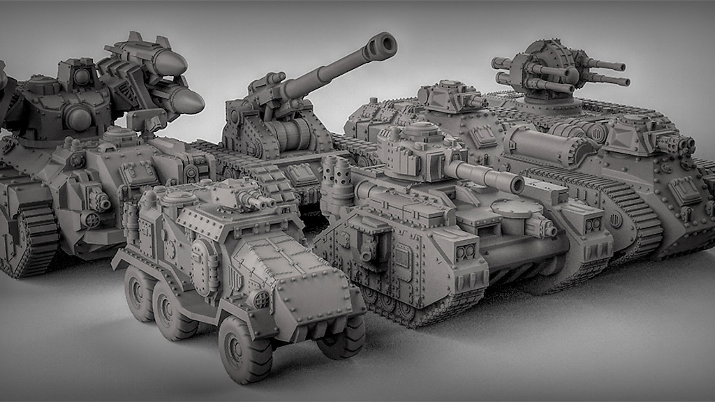 3D printable Sci-Fi Tanks by Duncan 'shadow' Louca — Kickstarter