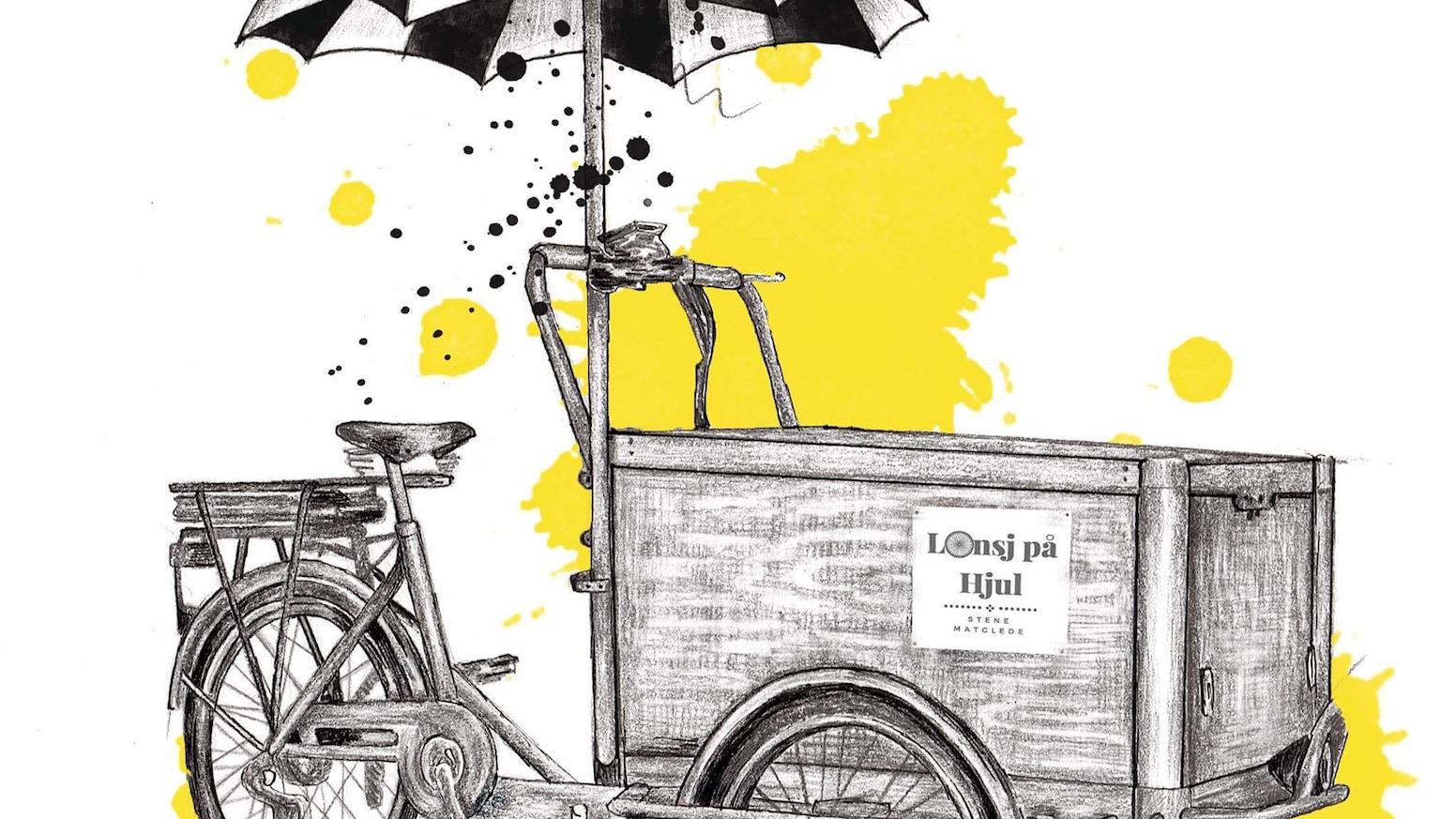 Lunsj på hjul går som det suser og no trengs ei oppgradering på sykkelfronten! Kva med å bidra til Bergens kuleste guleste lastesykkel? OG DEN KJEM I JUNI!!