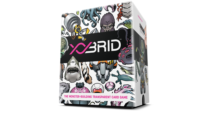XYbrid is a card-drafting, light strategy game in which players craft monsters in a competition to become the most infamous scientist.