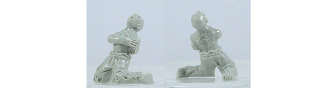 Plain resin miniature, approx 22mm high. Sculpted by Deeper Reaches Miniatures