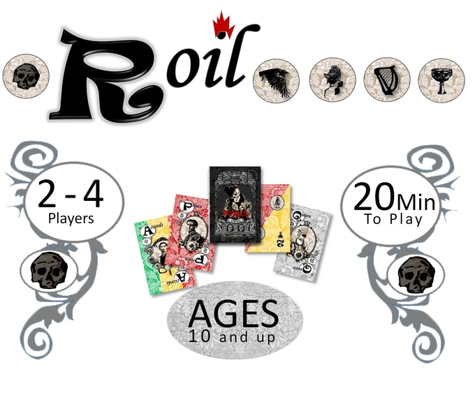 A family friendly, strategy card game where players earn points by playing cards to build their Royal COURT while strategically using FATE cards and SHADOW cards on their opponents.