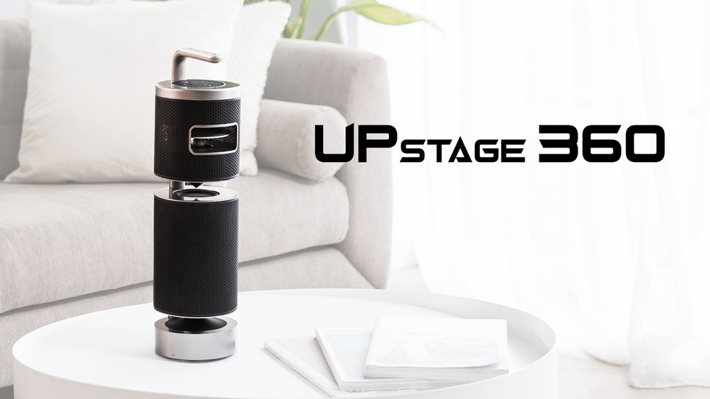 UPstage 360|World's First 360° Smart Speaker in Hi-Res Audio project video thumbnail