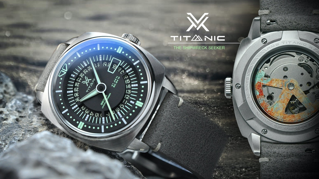 TITANIC X: The first dive watch with an unique anchor rotor project video thumbnail
