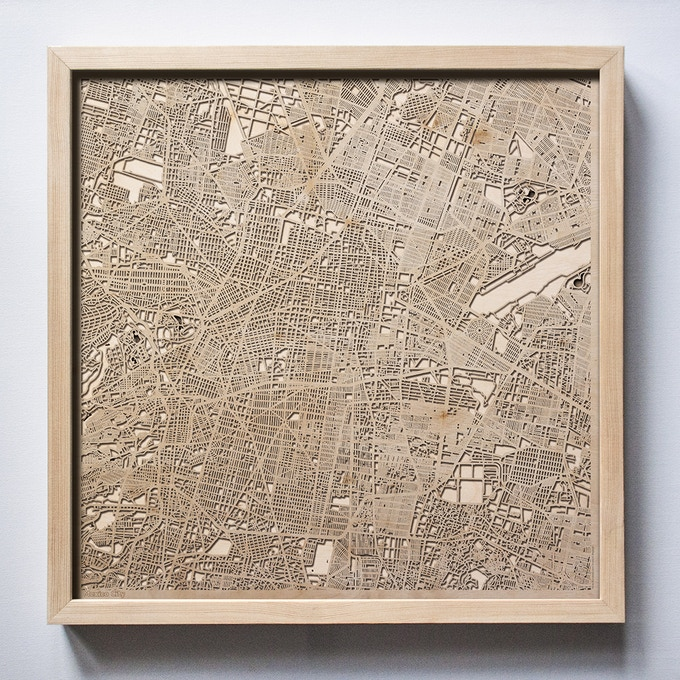 Mexico City CityWood Laser Cut Wooden Map