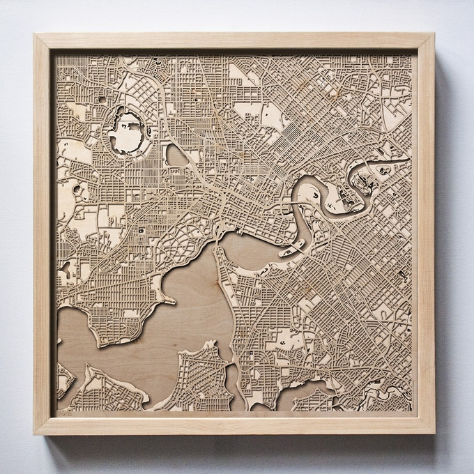 Parth CityWood Laser Cut Wooden Map