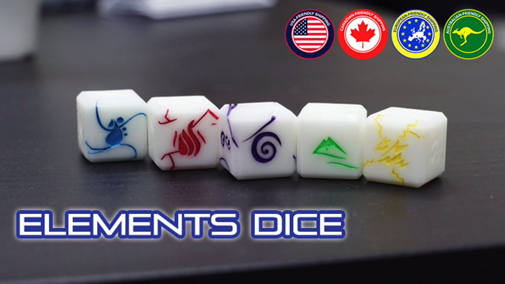 Project image for Elements Dice - Dice For RPG Boardgame Player (Suspended)