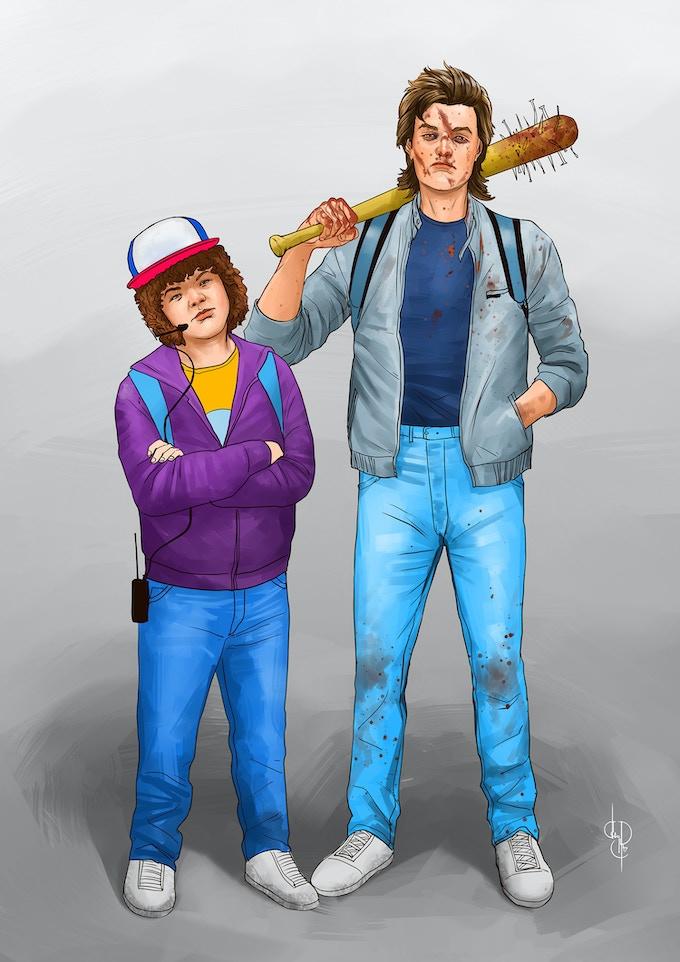 Steve and Dustin's Stranger Things 2