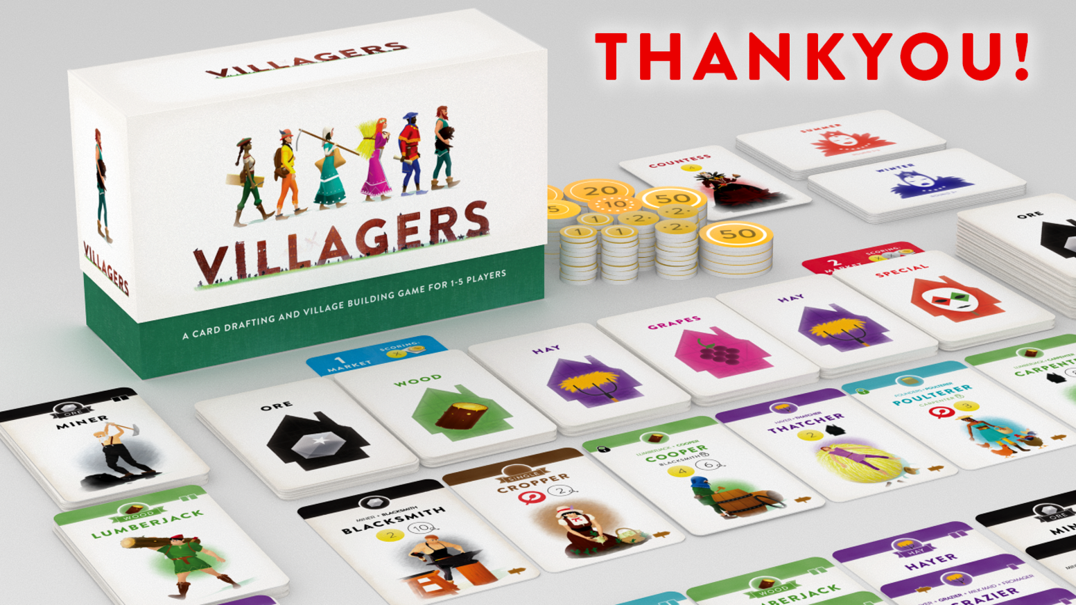Draft and build a tableau of villagers to create the most prosperous village. A little game that feels like a much bigger one!