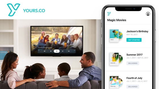 Yours.co: Transform your videos into beautiful home movies