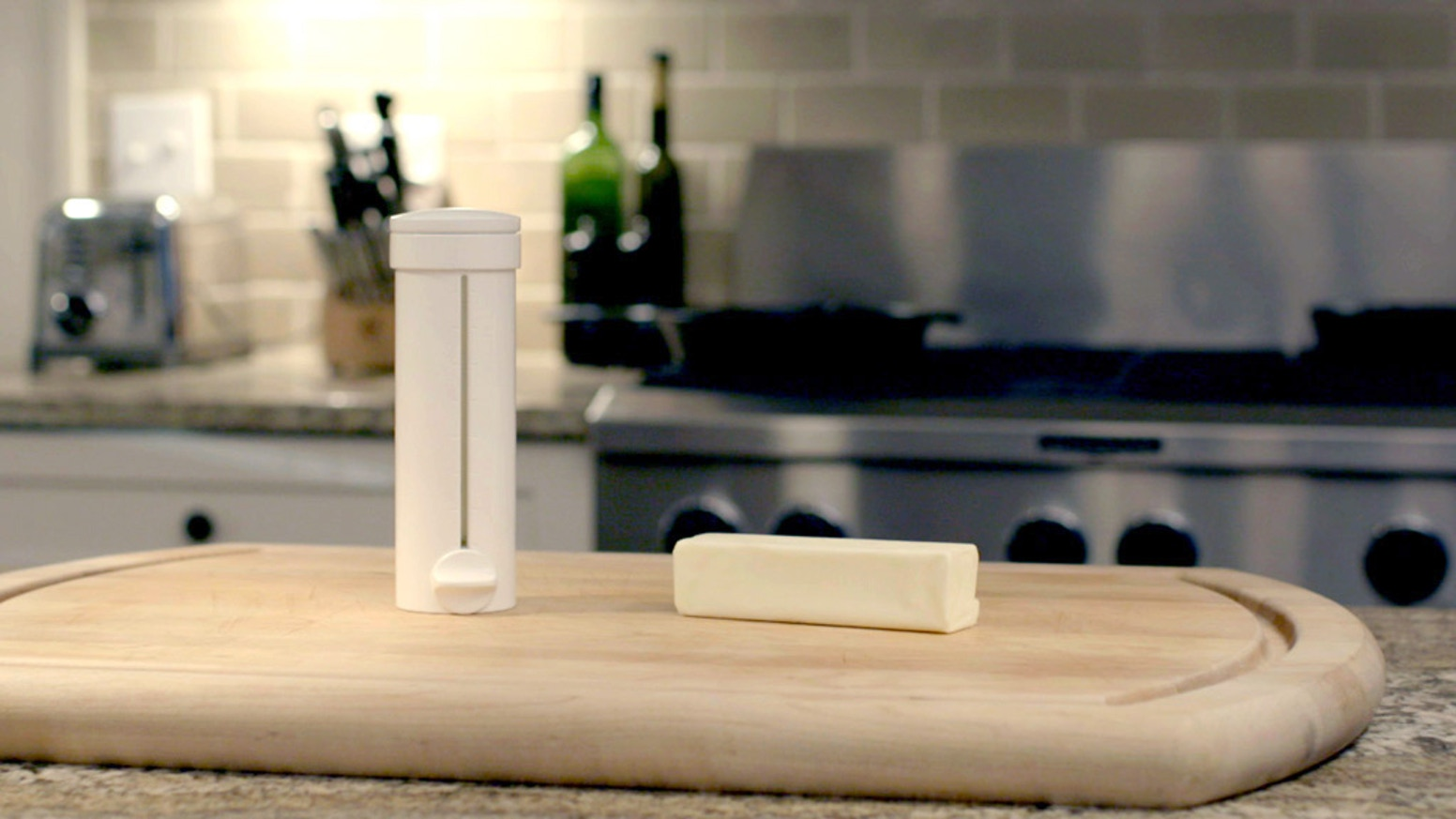 Spread, measure, cut and store butter with one tool. It's simply the better way to butter!