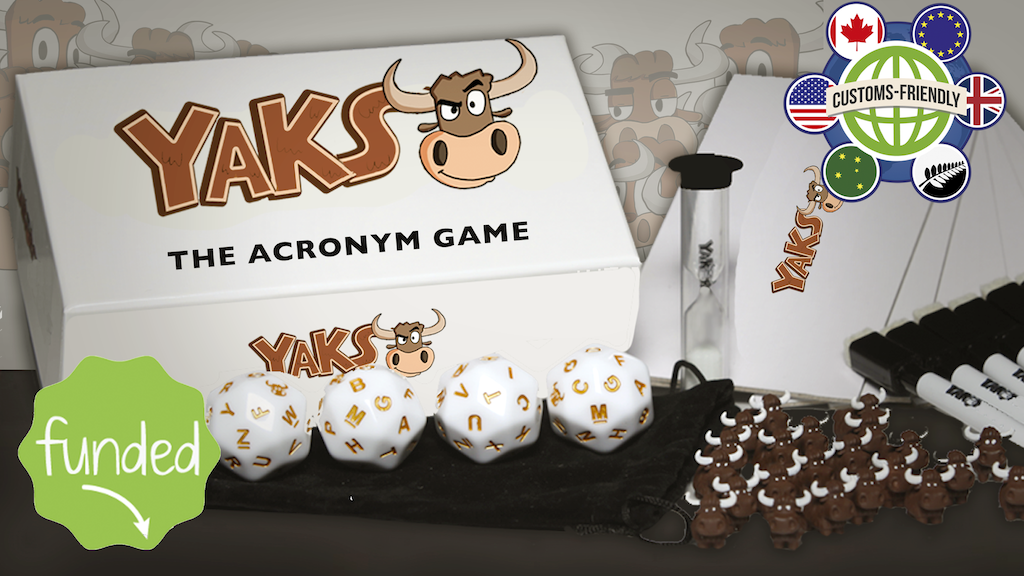 Yaks (previously Yakronyms) - A Party Game for All Ages project video thumbnail