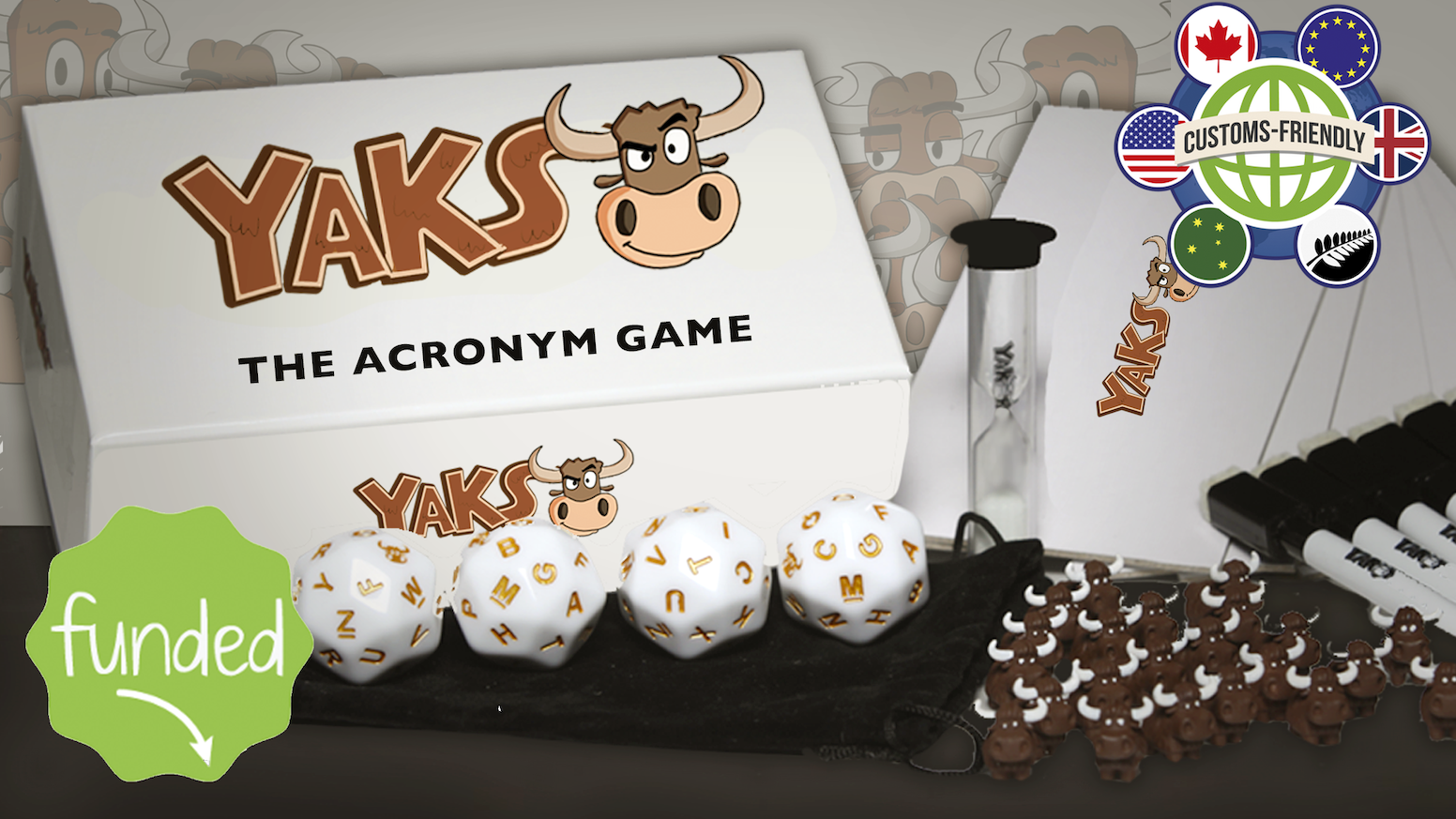 "YAKS is a fast and fun game where your wit and sense of humor arm you in creating hysterical phrases based on random letters. Click ""BUY SOON"" to find out when YAKS will be available for purchase."