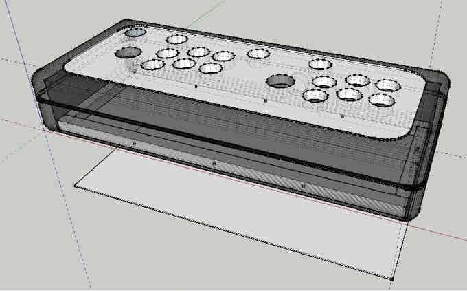 Diseño CAD del Arkadian 2 Player