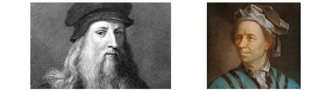 Leonardo da Vinci and  Leonhard Euler