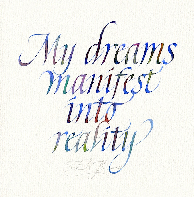 Positive affirmation calligraphy in watercolors by els baekelandt positive affirmation 6 altavistaventures Gallery