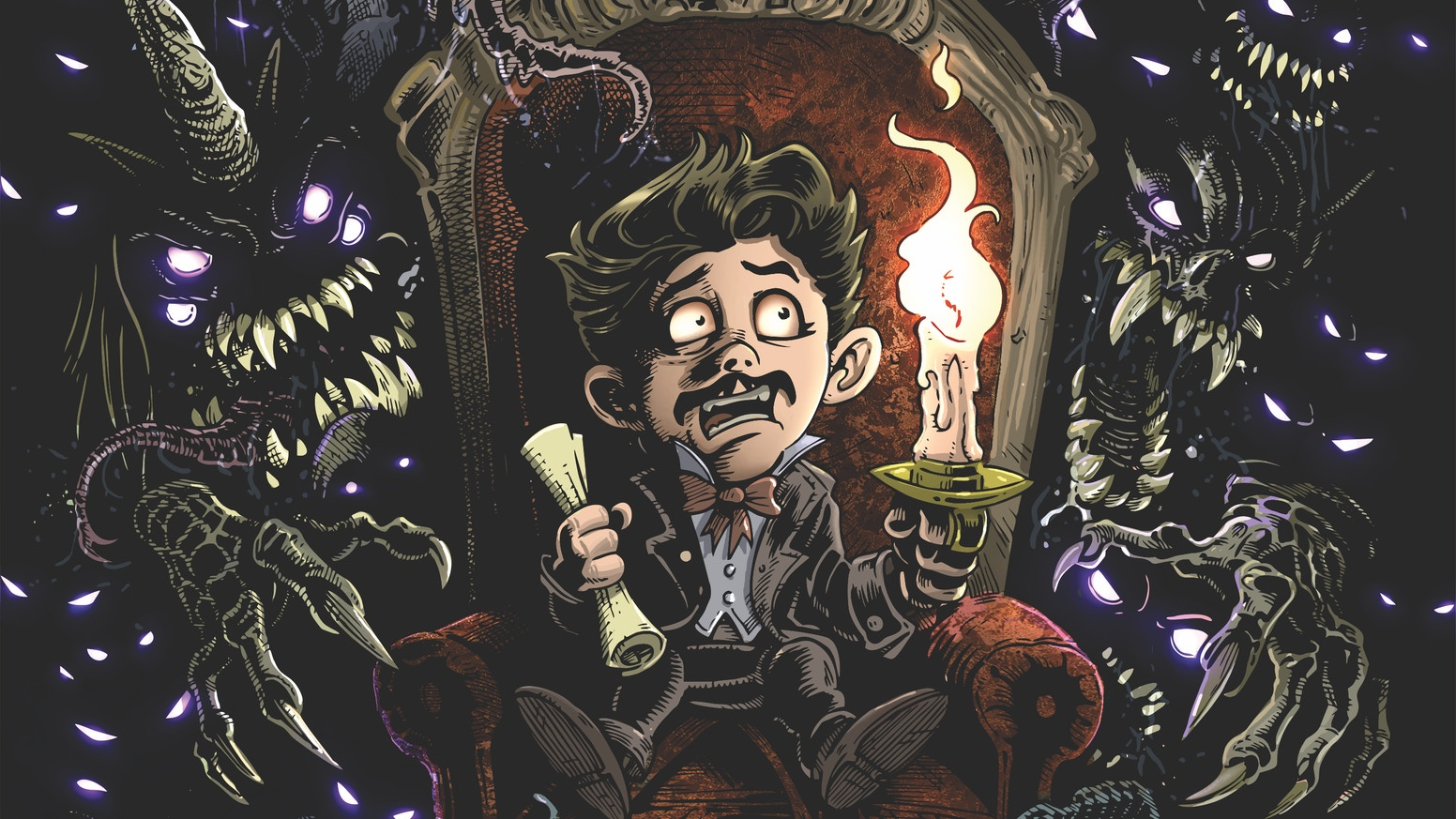 The third issue of an epic fantasy adventure through a nightmare world of mythological gods & monsters inside Edgar Allan Poe's head!