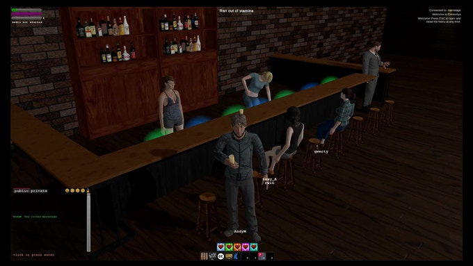 Just a Few Friends at the Bar