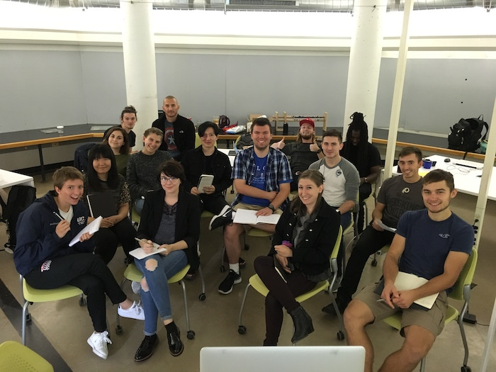 The student designers of Ted Burdett's Entrepreneurial Product Development class