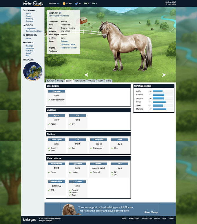 Horse Reality: a free-to-play realistic horse sim by Deloryan