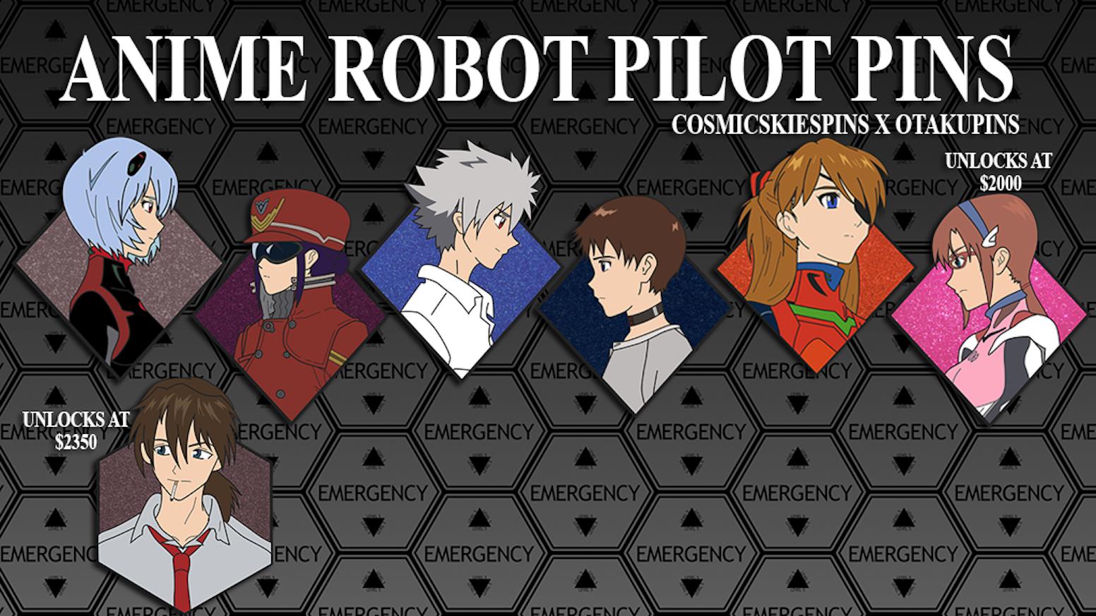 anime robot pilot pins by delaney benitez kickstarter