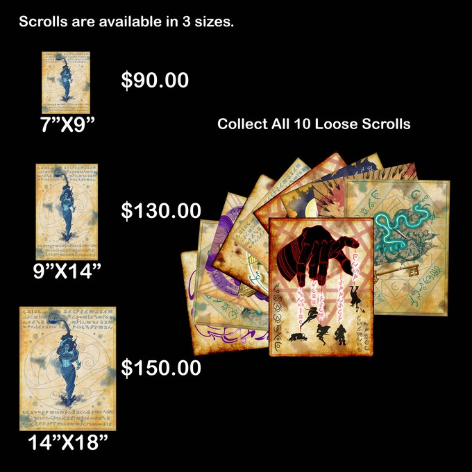 Collect All 10 Loose Spell Scrolls