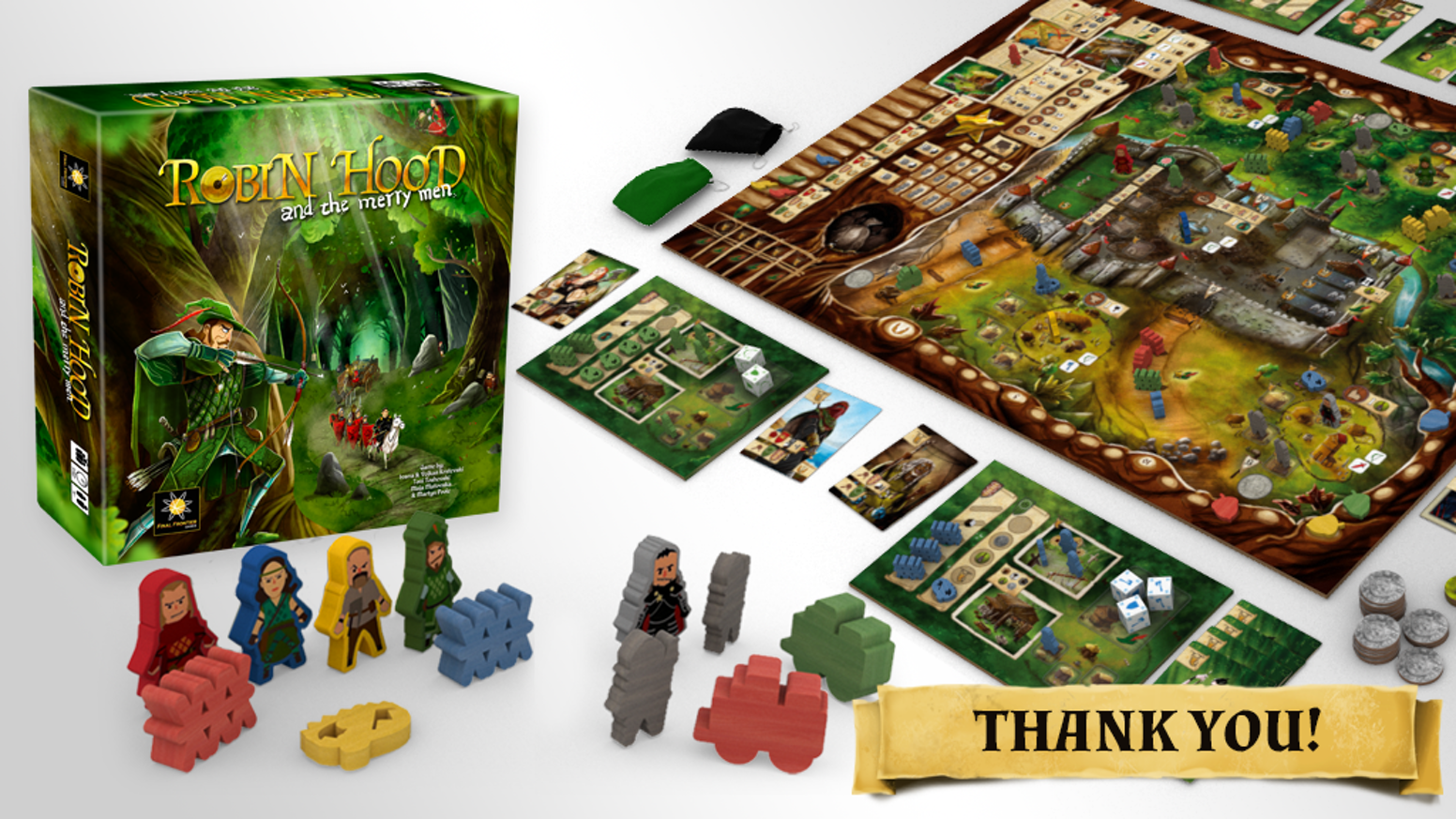 Semi cooperative and highly competitive board game, set in the legendary town of Nottingham