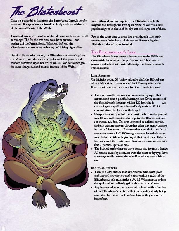 Faerie Fire, a 5e supplemental by Astrolago Press — Kickstarter