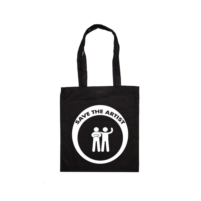 tote bag negra (disponible en también en blanco)
