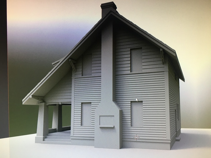 3d Print Miniature Sears Westly Kit Home By Toysinbox 3d