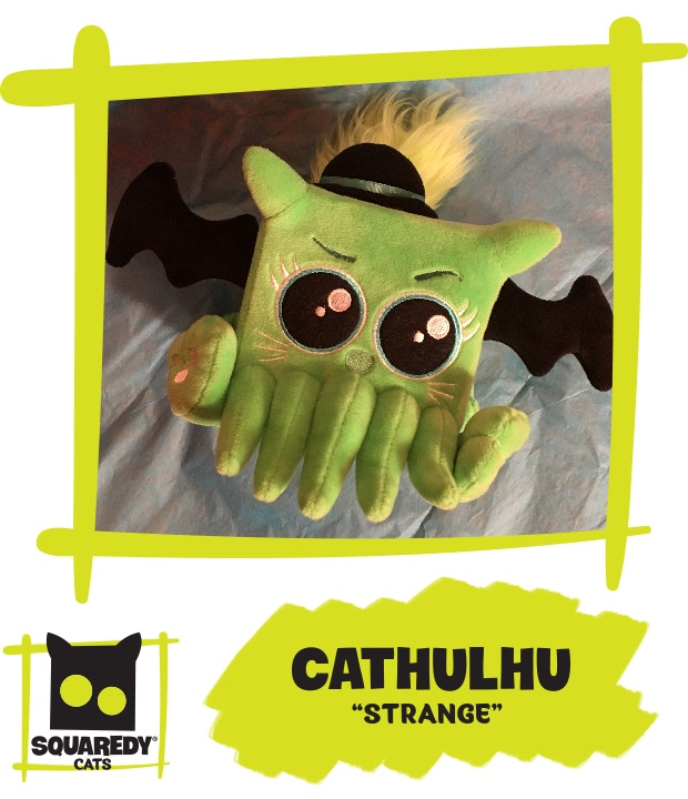 This is Cathulhu, the strangest cube shaped kitty you've ever witnessed. If he's not on your desk at work you risk getting fired!