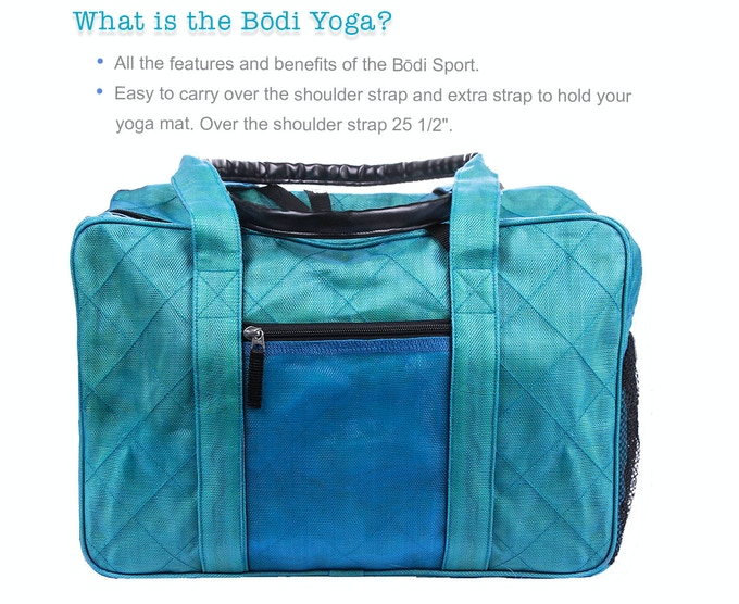 The Bōdi Bag Sports Bag Yoga Bag Weekender Carry On