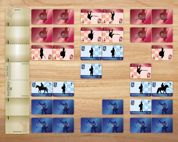 Example of Card Movement in Battle
