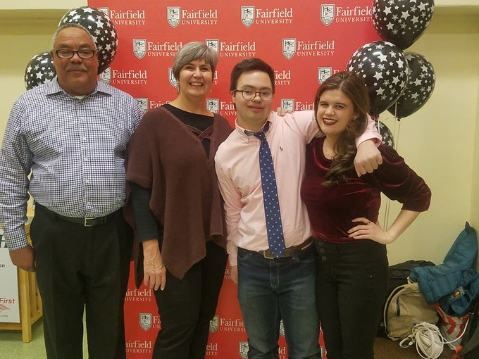 Steve, Kathy Chris, and Francesca at Fairfield University in CT after a private screening