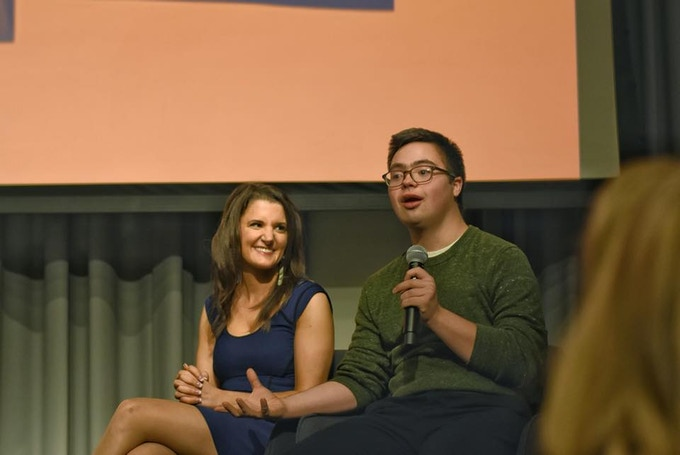 Eva Andersen and Chris Lopes during a Q & A at Columbia University's Doc Fest 2017 after a private screening