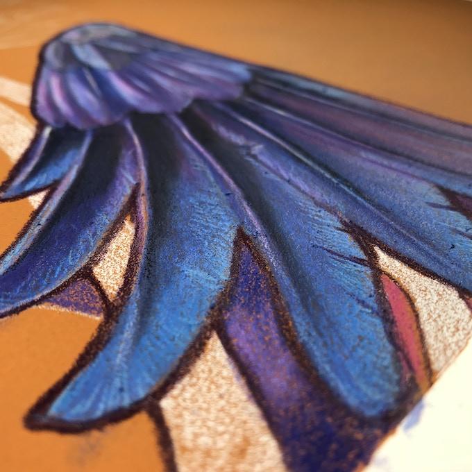 close up of art in progress