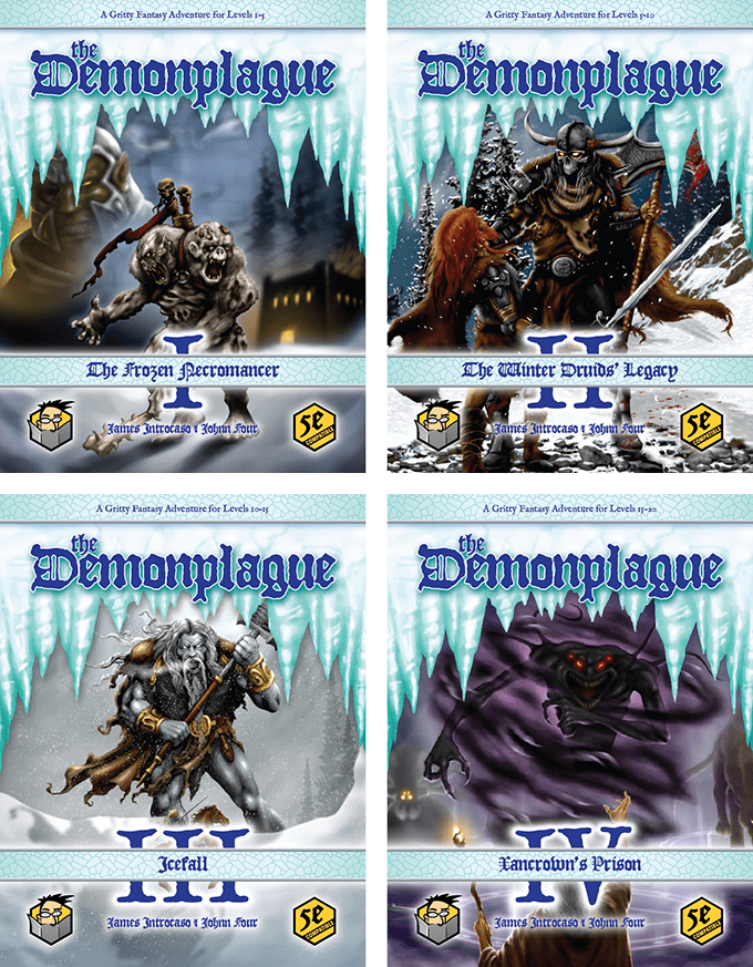 Draft Cover Previews of all Four Parts of the epic Demonplague Campaign
