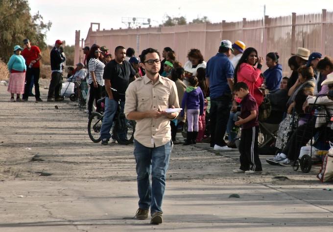 Mauricio Peña reporting for the Desert Sun in southern California
