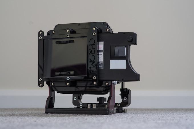 Fuji Quickload holder in landscape orientation