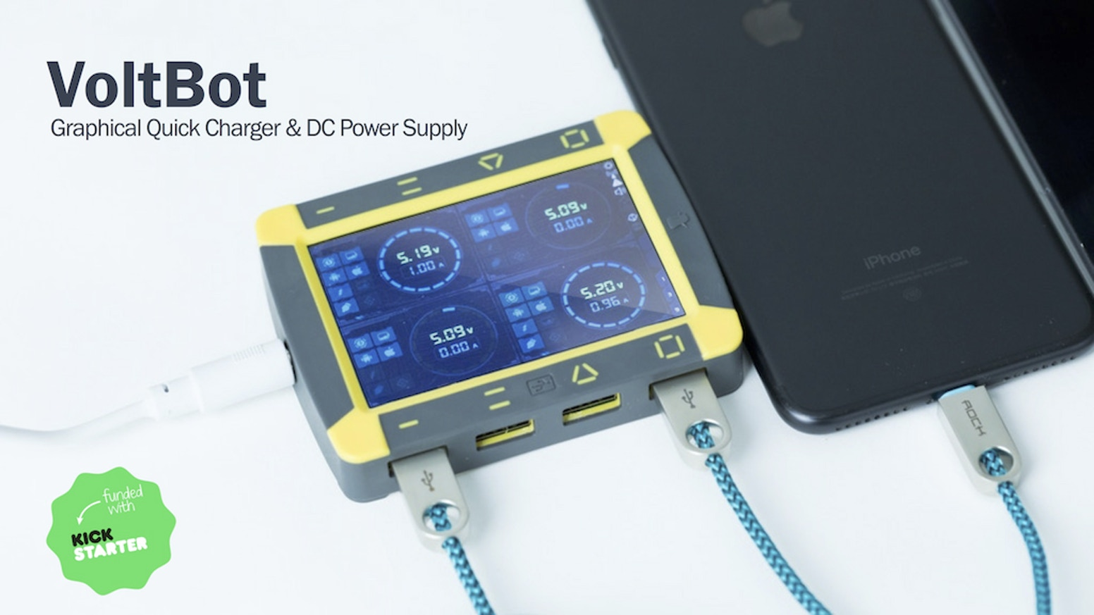 Tiny-size 4 channel DC power supply with LCD and WiFi, also providing high-quality Graphical QuickCharge experience.