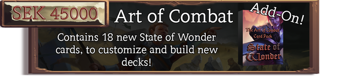 The Art of Combat Card Pack, includes 6 new unique card sets to customize your decks with.