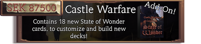 The Castle Warfare Card Pack, includes 6 new unique card sets to customize your decks with.