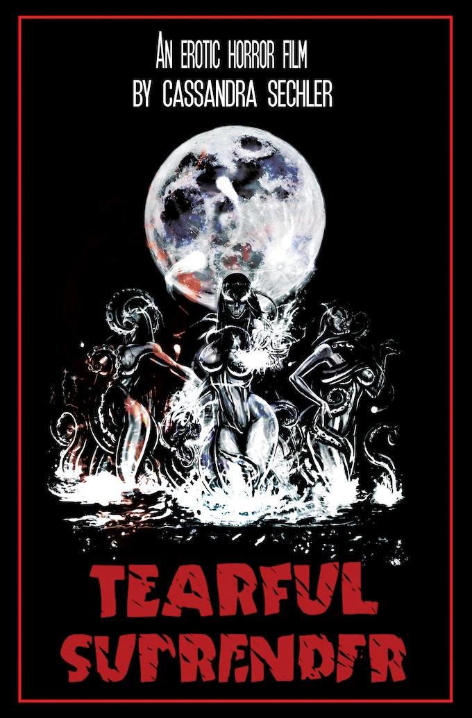 Tearful Surrender poster design by Cassandra Sechler. Original Art by Jesse Carson.