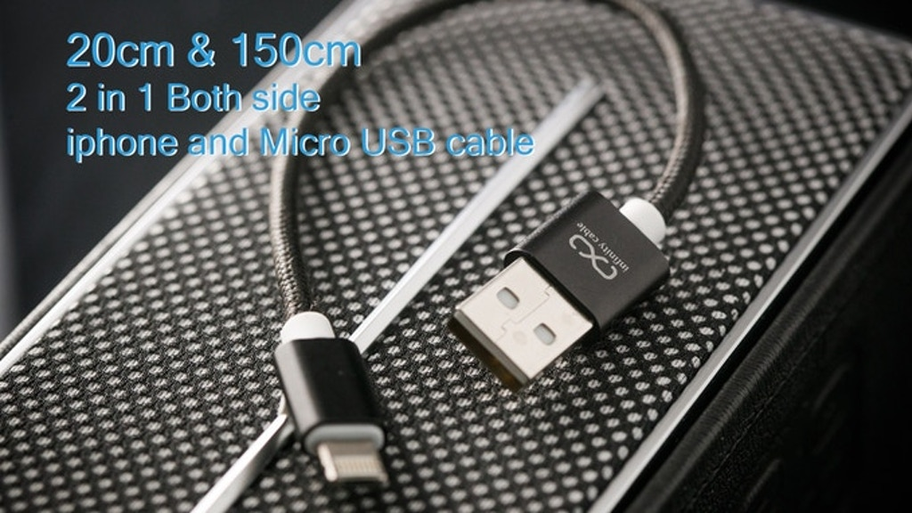 2 in 1 Both Side iphone and Micro USB cable 20cm & 150cm project video thumbnail