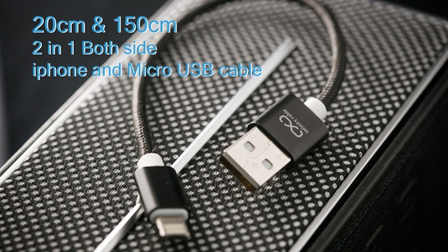 a cable which does not have the 'front and back' barrier,it will be able to be used in IPHONE and MICRO USB